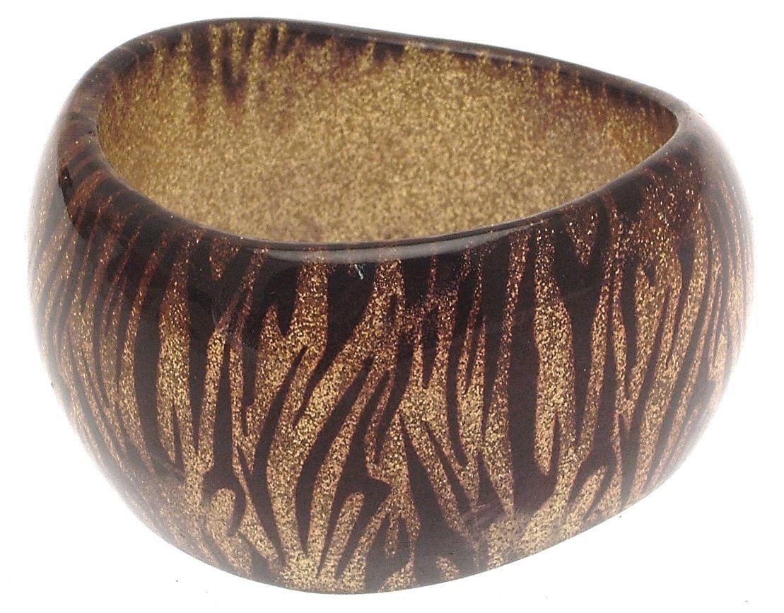 Bangle Bracelets Plastic Bangles Animal Print Jewellery Chunky Bracelet