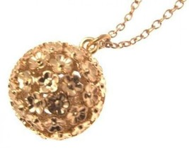 Fashion necklace floral ball design IAS189 - $16.80