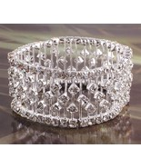 Glitzy stretchy diamante bracelet - $47.35
