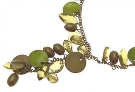 Ladies fashion necklace with green bead design IAS356 - $16.80