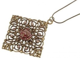 Pendant Necklace rose design IAS236 - $16.67