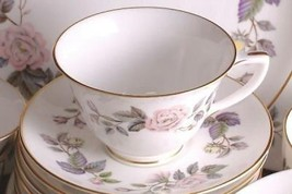 Royal Worcester June Garland Cup and Saucer - $28.37
