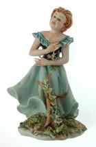 Capodimonte girl figurine in blue dress germano cortese 100 - NEGR32 - $168.27