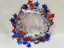 4th of July Patriotic Foil Star Garland Red Blue Silver Decor 25FT - $5.99
