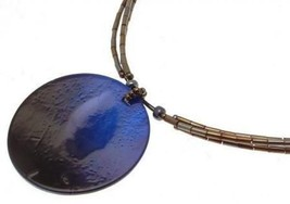 Shell Jewellery Necklace blue shell design IAS26 - $14.32