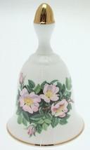 Danbury Mint Sumner Collection Wildflower Bells - Dog Rose Design - May - CLT344 - $25.89