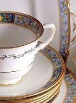 Aynsley A4670 Blue Floral Cup and Saucer - $40.46