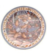 Royal Doulton A World of Blessings Linda Hill Griffith teddy plate CP2128 - $37.65