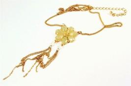 Drop Pendant Green Flower Necklace Green Jewellery 1035 - $19.50