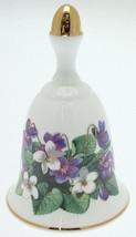 Danbury Mint Sumner Collection Wildflower Bells - Sweet Violet Design - April - $25.89