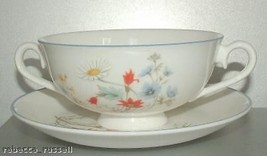 Royal Albert Summer Breeze Soup Coupe and Underplate - $50.81