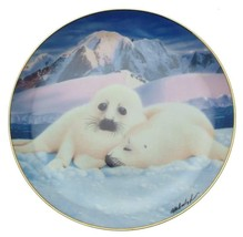Franklin Mint Snuggle Up Seal Pup plate by Wepplo - CP1764 - $28.14