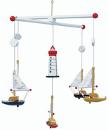Mobile sailboat and lighthouse 7205 - $18.93
