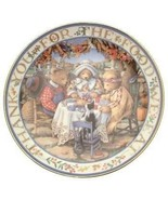 Royal Doulton Thankful Teddies Linda Hill Griffith teddy plate CP2134 - $37.65