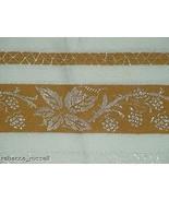 51 x 51 Vintage Damask tablecloth Mustard Spiderweb - $110.68