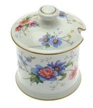 Crown Staffordshire Englands Glory Jam Pot and Lid F16333 - NEGR165 - $63.73