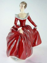 Royal Doulton large figurine - HN3311 - Fragrance - red dress with gloss - $178.82