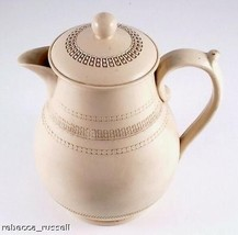 c1890 Copeland Spode Hot Chocolate Pot Chevron Design - $110.68
