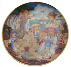 Franklin Mint Teddy bear plate Teddy Bear Beach Party Carol Lawson - CP1783 - $36.43