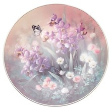 c1992 Knowles Jewels of the Flowers Pearl Luster Tan Chun Chiu plate TN141 - $49.62