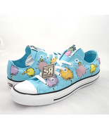 New Converse DR. SEUSS The Lorax Lo All Star Chuck Taylor Blue Green White Shoes - $75.99