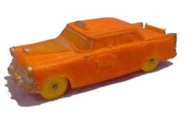An item in the Toys & Hobbies category: 1950s Auburn Taxi 580 Orange Taxi Rubber Car