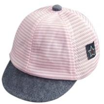 Fashion Spring Summer Baby Peaked Cap Cotton Gauze Horizontal Stripe Sun... - £6.72 GBP