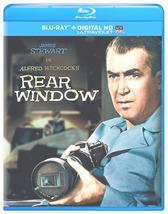 REAR WINDOW BLU-RAY DVD JIMMY STEWART GRACE KELLY ALFRED HITCHCOCK HD  - $14.99
