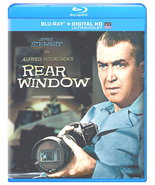 REAR WINDOW BLU-RAY DVD JIMMY STEWART GRACE KELLY ALFRED HITCHCOCK HD  - $14.99