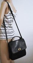 Free Ship Messenger Cross Body Bag Black Leather Purse - $35.00