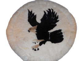 luxurious alpaca rug american eagle design Decor  - $120.00