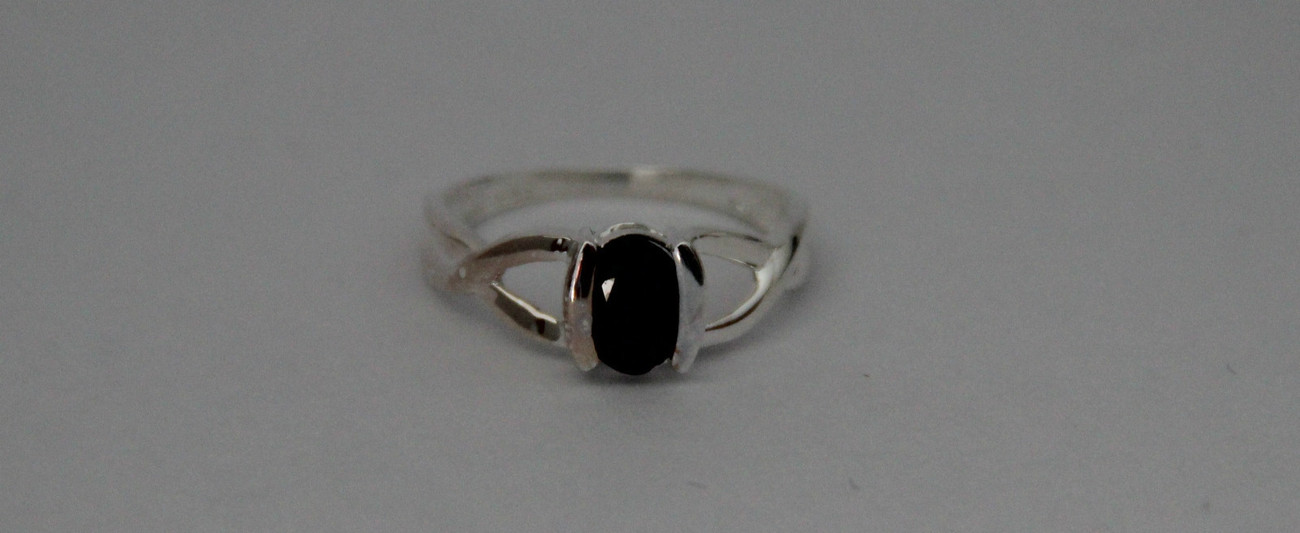 Charming 1.00 ctw. Genuine Sapphire Crafted in Sterling Silver size 7