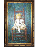 MILDRED FEAZEL Signed Original Self Portrait Painting  Acrylic Polymer - $139.50