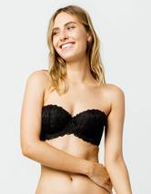 FULL TILT Women's Juniors Lace Strapless Black Bandeau Push-Up Bra Size XL - $9.85