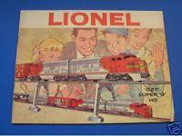 1960  LIONEL CATALOG- CASE NEW