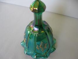 "Fenton Glass Green Iridized Hand Painted Grape 6"" 100th Anniversary Bell   - $39.99"