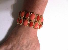 "Charter Club 6.5"" Gold Tone Cobblestone Two Row Stretch Bracelet P122 - $12.09"