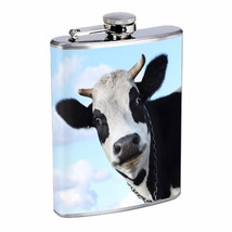 Cow Em1 Flask 8oz Stainless Steel Hip Drinking Whiskey - $13.81