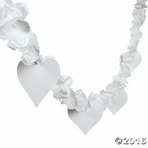 9 Ft White Flower and Heart Garland Wedding Shower Party Decorations - $7.59
