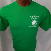 Rochester Ataxia Golf Tournament Green Graphic T Shirt 100% Cotton L Large - $14.11