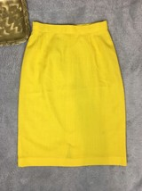 Vintage Yellow Pencil Skirt - Women's XS - $16.78