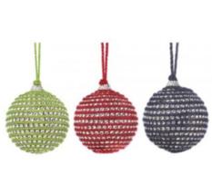 Bonanza_Holiday Jute Ball Ornament Trio - $25.55