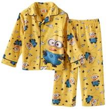 Despicable Me Little Boys Paper Plane Minion 2pc Flannel Pajama Set - $12.99