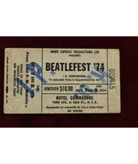 1974 Beatle Fest Ticket Stub Hotel Commodore NY September 7 and 8 - $157.41