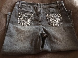 CATO Embroidered Girls Size 16 Denim Capri Pants NWT - $14.03