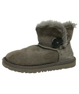 UGG Australia bailey one button youth girls winter boots gray leather si... - $39.49