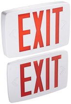 Lithonia Lighting Quantum Thermoplastic LED Emergency Exit Sign, Red Let... - $41.29