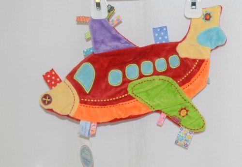 baby Snoozies BTCAP02 Cozy Crinkle Cloth Airplane Auditory Tactile Feedback