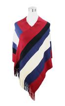 Large Stripe Fringe End Poncho - $12.99