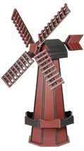 "60"" POLY WINDMILL - Mahogany & Black Working Dutch Garden Weathervane Am... - £302.28 GBP"